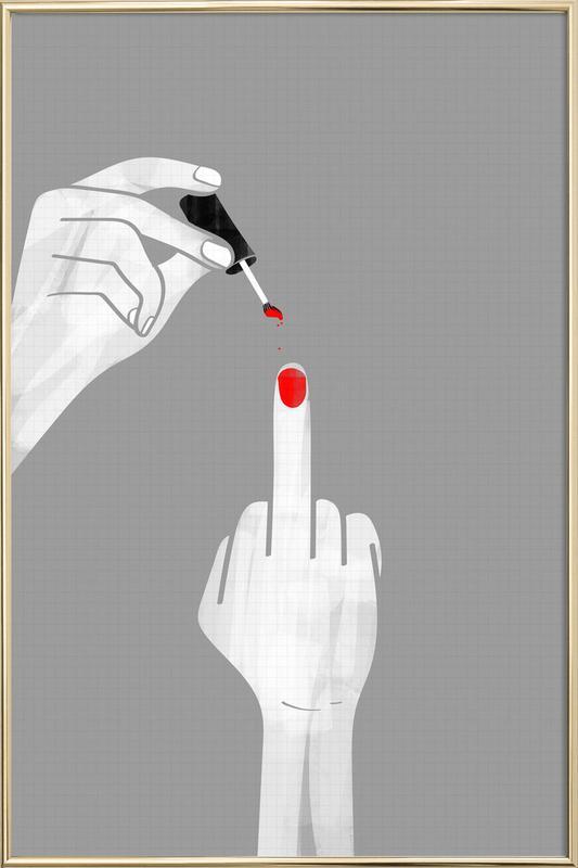 Nails Fuck Poster im Alurahmen
