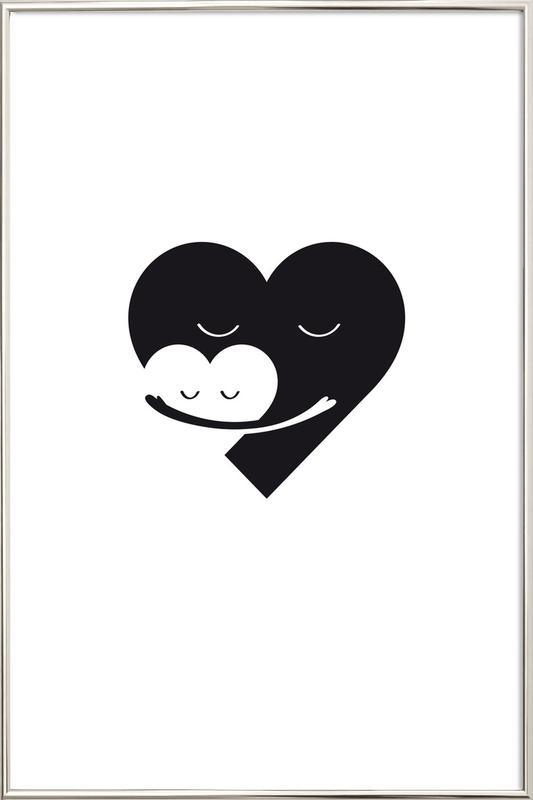 Heart Hug poster in aluminium lijst