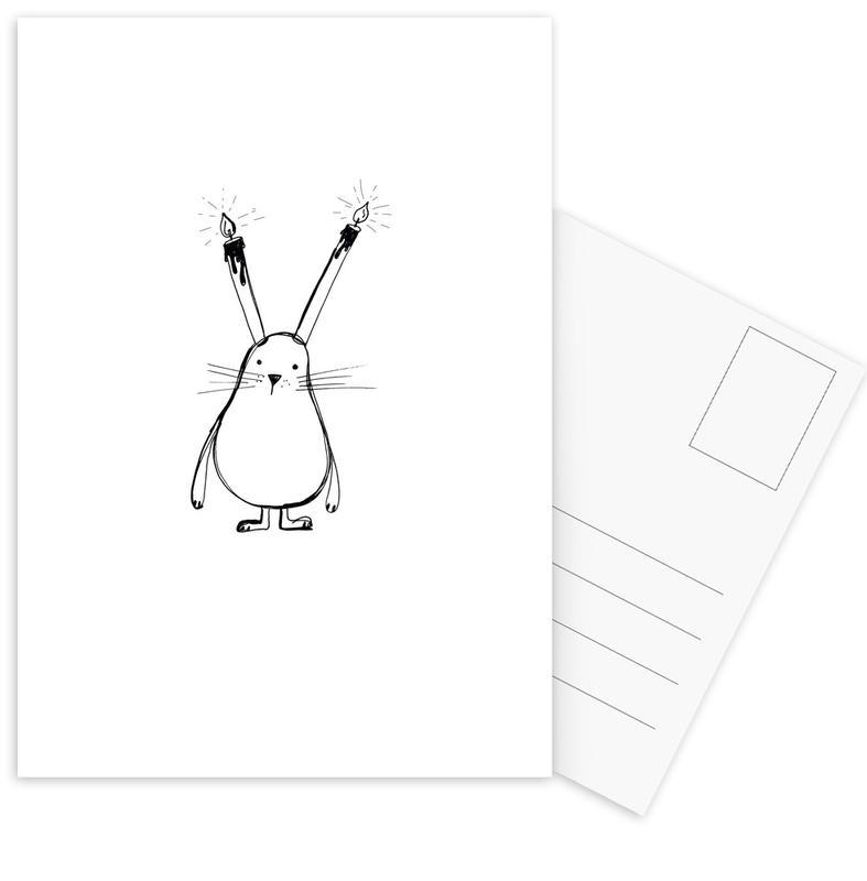 B-Day Bunny -Postkartenset