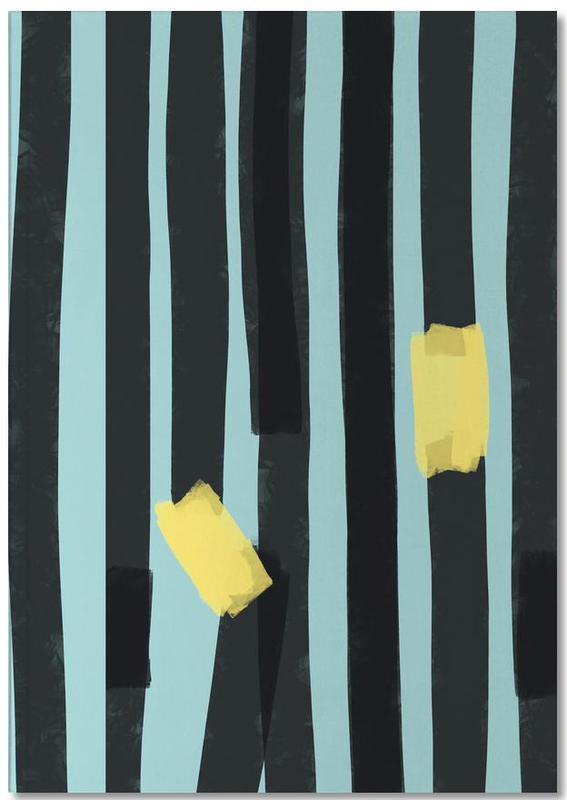 Black Stripes Premium Notizbuch | Dekoration > Accessoires | Mehrfarbig | Papier
