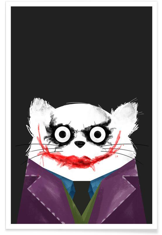 Cat - Joker Poster