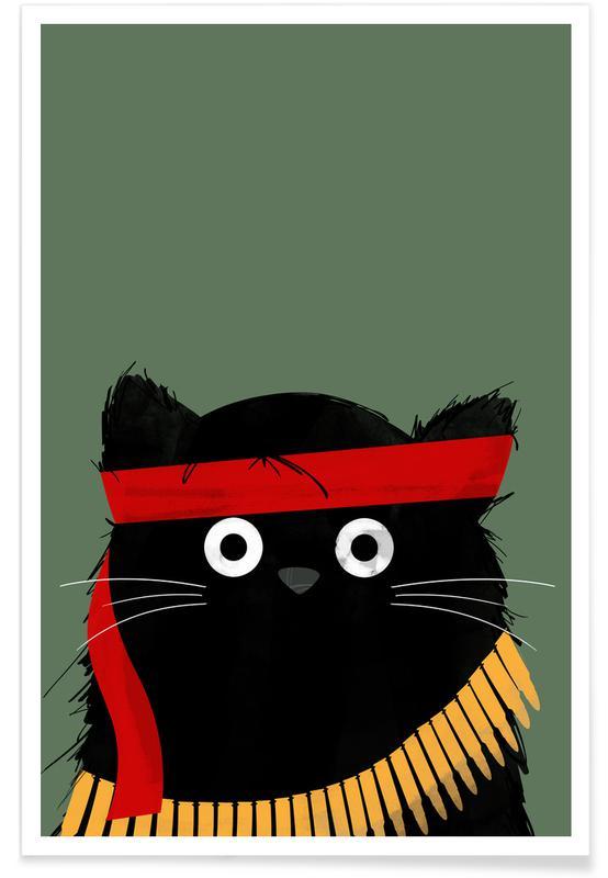 Cat - Rambo Poster