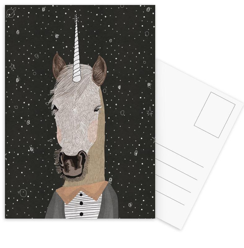 Unicorn Postkartenset | Dekoration > Accessoires | Mehrfarbig
