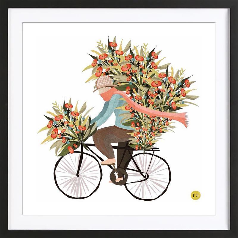 Bicycle -Bild mit Holzrahmen