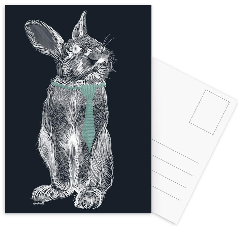 Fancy Rabbit Postcard Set