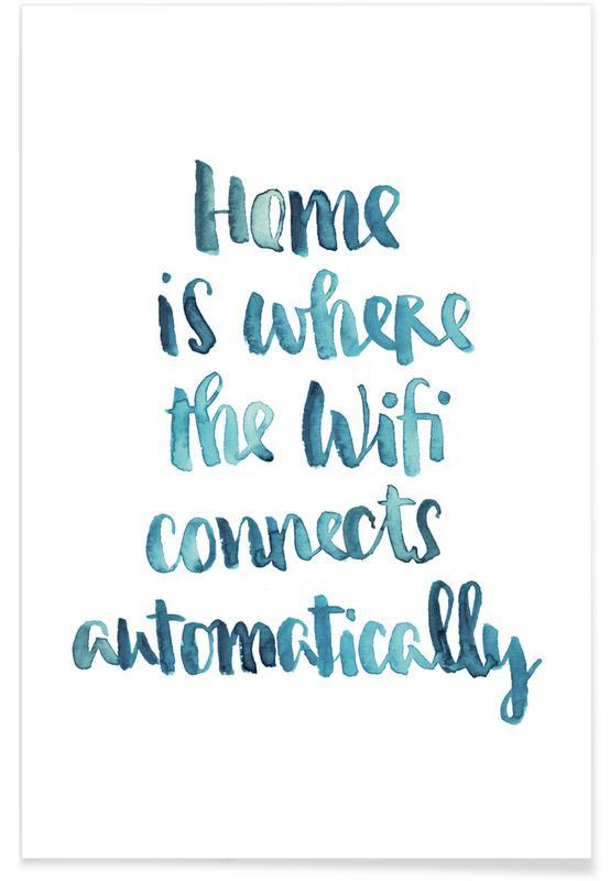 Wifi Home Premium Poster