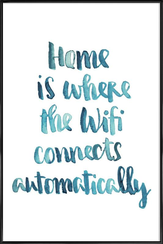 Wifi Home Gerahmtes Poster