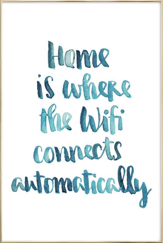 Wifi Home Poster im Alurahmen