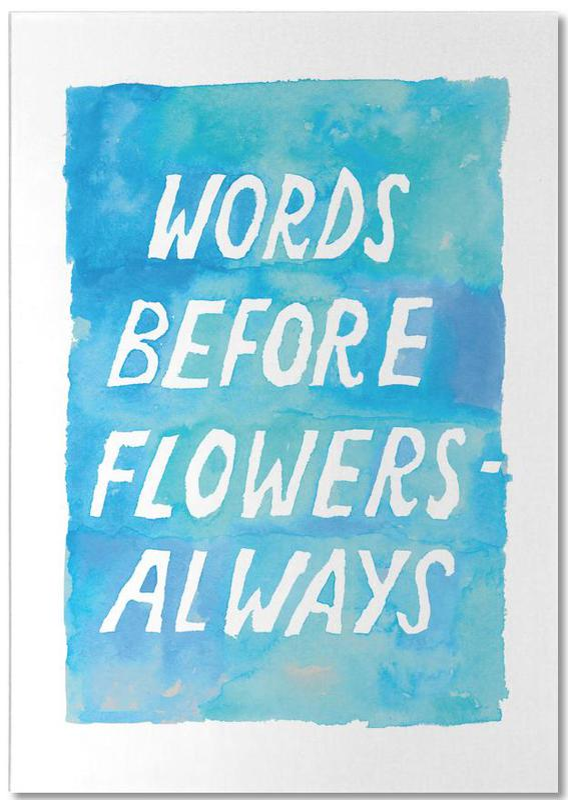 Words Before Flowers Notepad