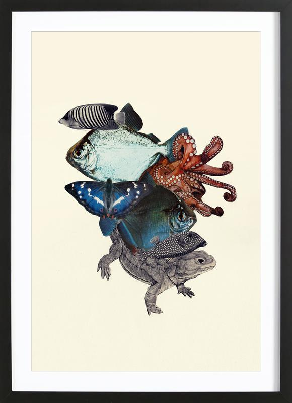 Reptiles and Sea Creatures Framed Print
