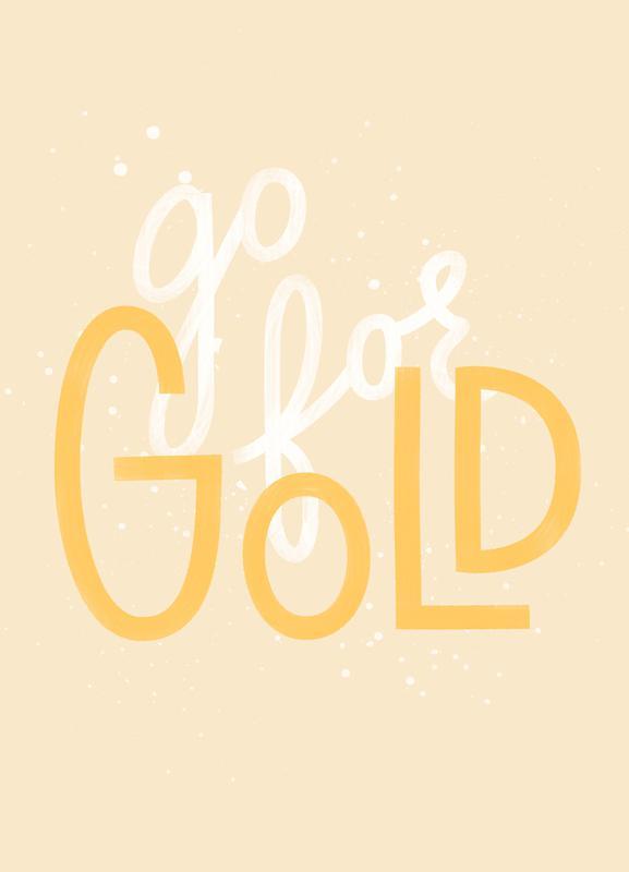 Go For Gold -Leinwandbild