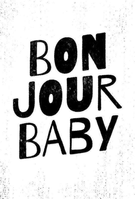 Bonjour Baby Acrylglasbild | Dekoration > Bilder und Rahmen > Bilder | Mehrfarbig | Aluminium