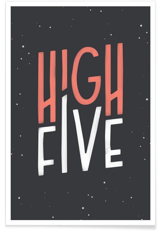 High Five Premium Poster