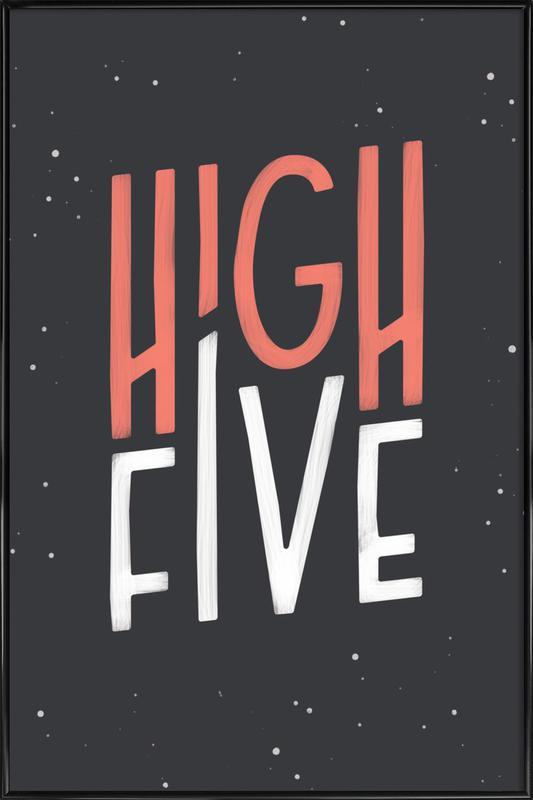 High Five Gerahmtes Poster