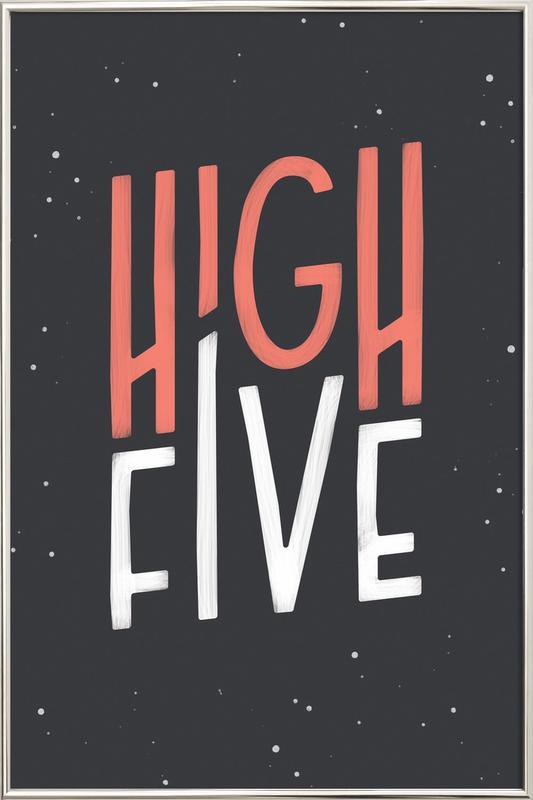 High Five Poster im Alurahmen