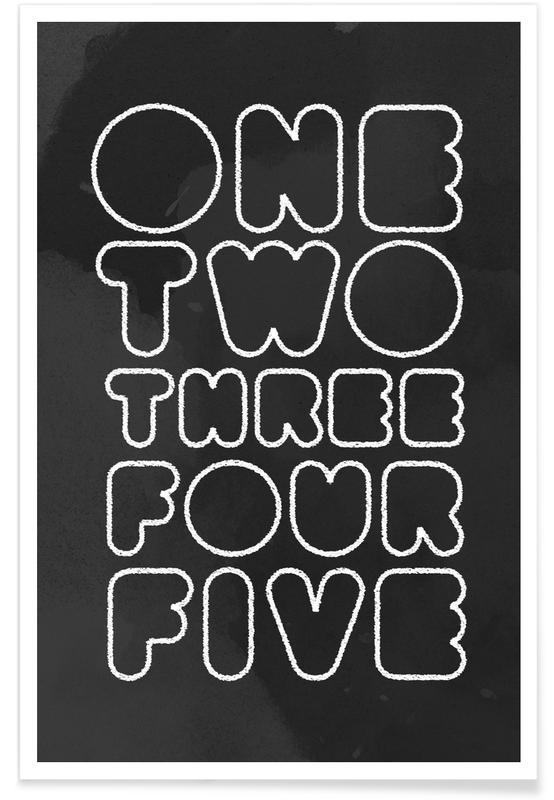 One Through Five Premium Poster