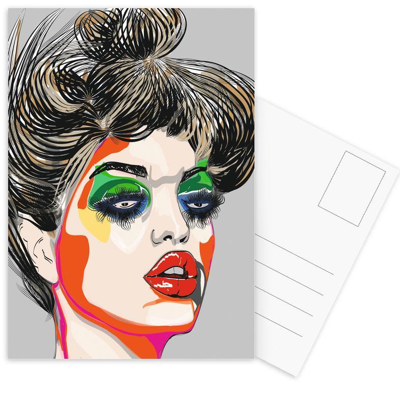 Colours Postcard Set