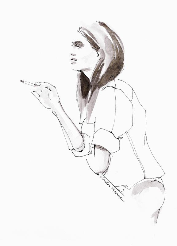Morning Cigarette Leinwandbild | Dekoration > Bilder und Rahmen > Bilder | Mehrfarbig | Holz