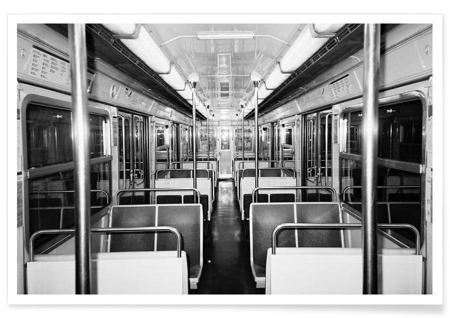Metro black & white Poster