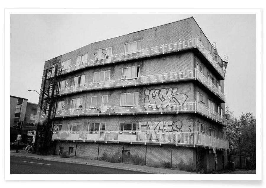 Montreal black & white affiche