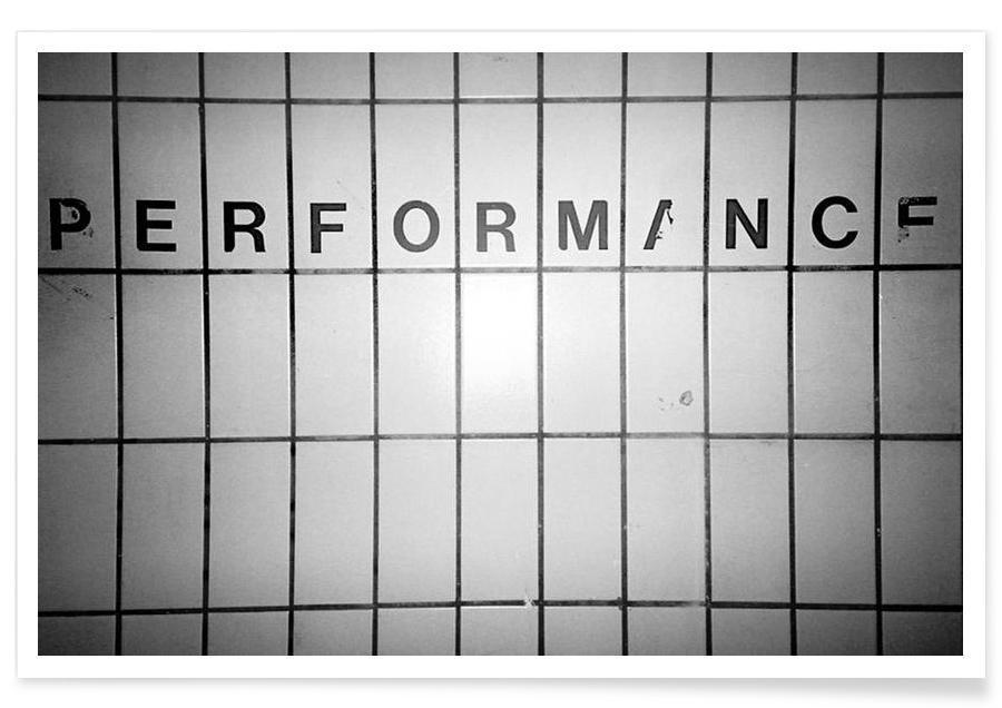 Performance black & white poster