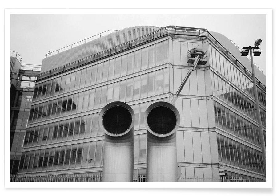 Gare de Lyon black & white -Poster