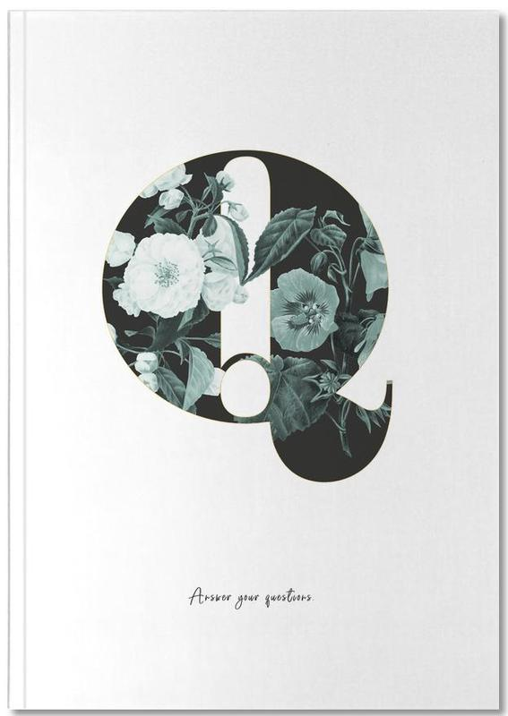 Flower Alphabet - Q Notebook