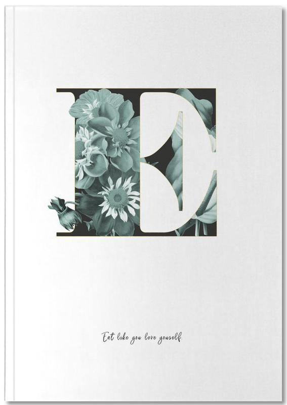 Flower Alphabet E Premium Notizbuch | Dekoration > Accessoires | Mehrfarbig | Papier