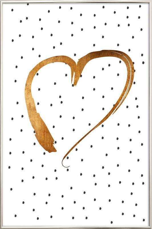 Heart 1 Poster in Aluminium Frame