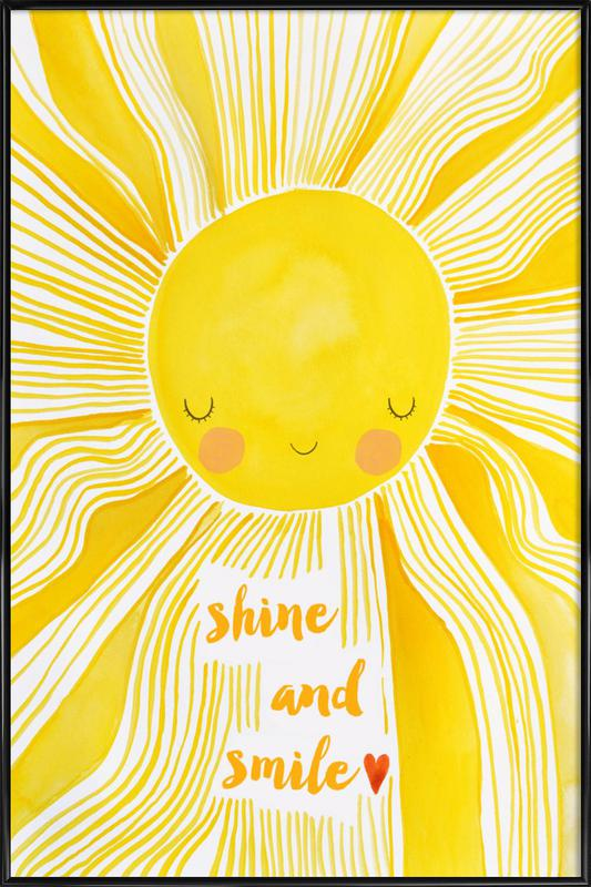 Shine and Smile Framed Poster