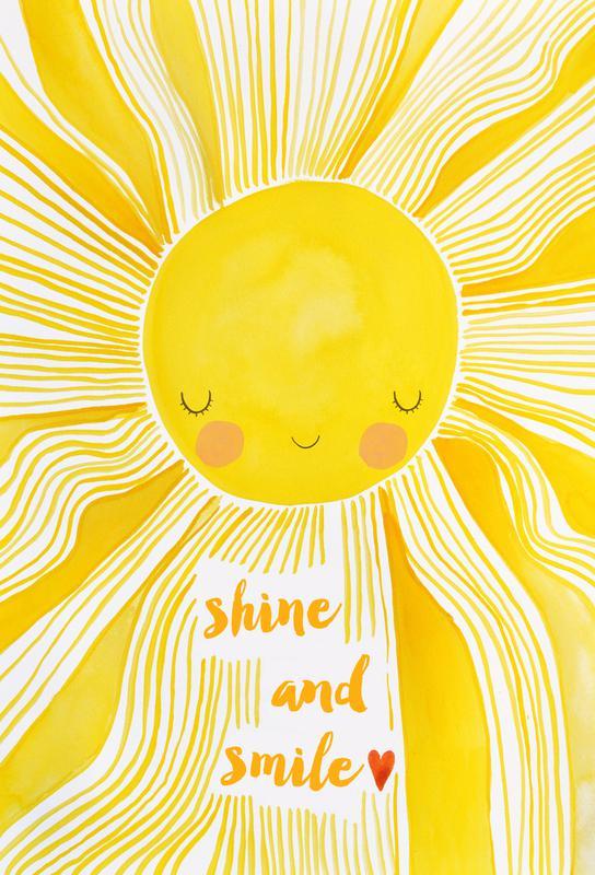 Shine and Smile Aluminium Print