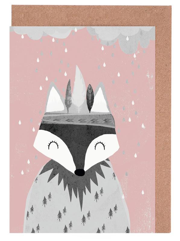 Regenmacher Rosa cartes de vœux