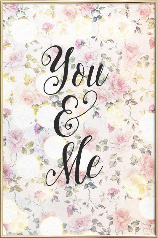 You and Me Poster im Alurahmen | Dekoration > Bilder und Rahmen > Poster | Mehrfarbig