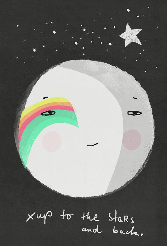 Up to the Stars Alu Dibond Druck