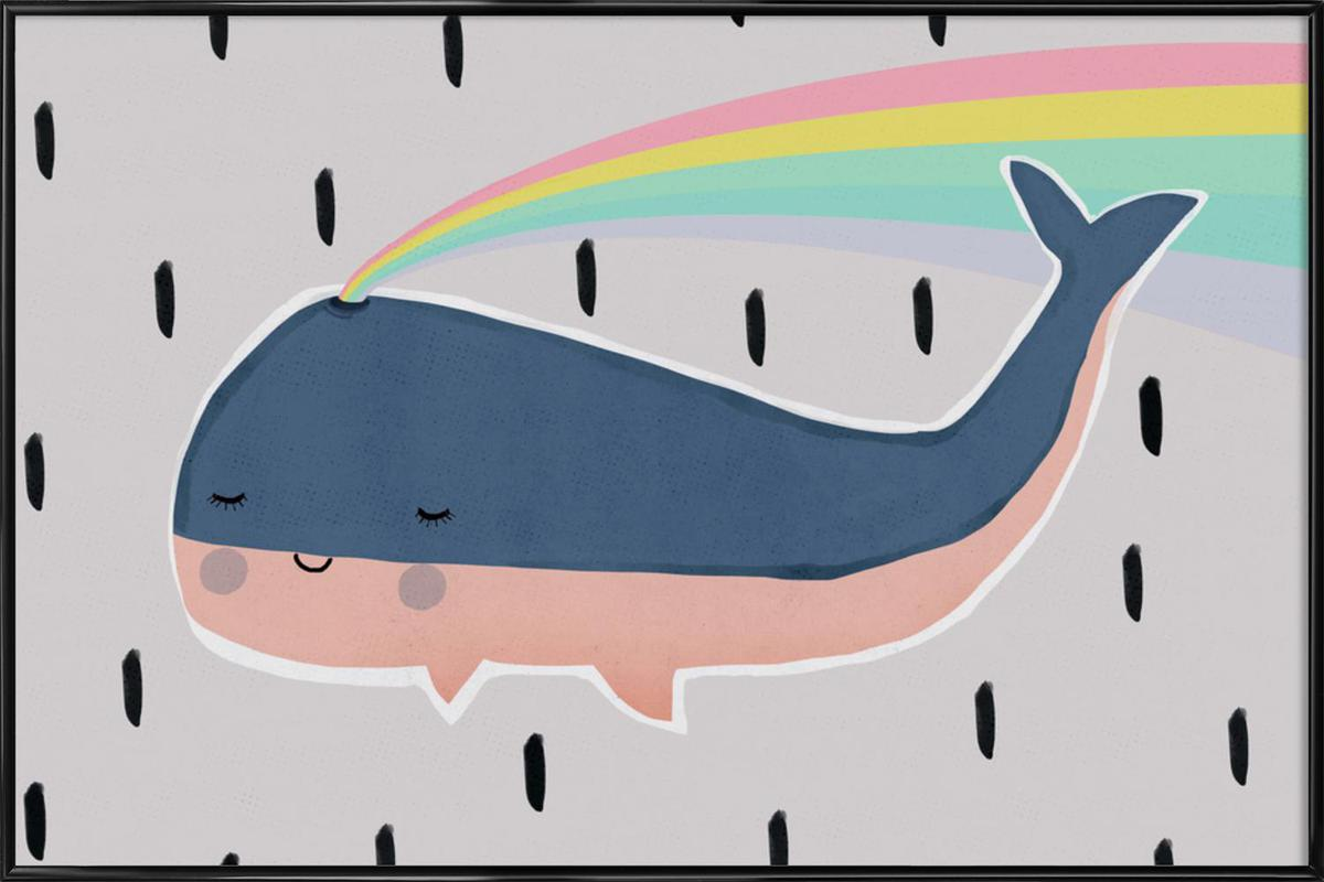 Happy Whale Framed Poster