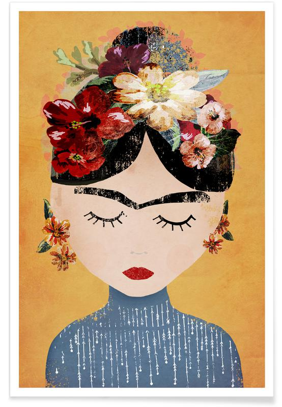 Frida Kahlo illustratie poster