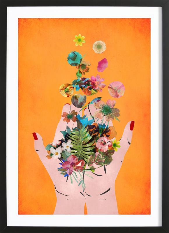 Frida's Hands Poster i träram