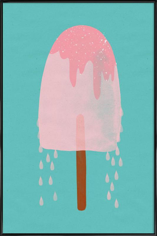 Ice Cream Strawberry Framed Poster