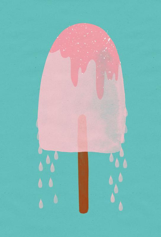 Ice Cream Strawberry alu dibond