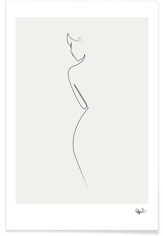 Nude Line Drawing Poster