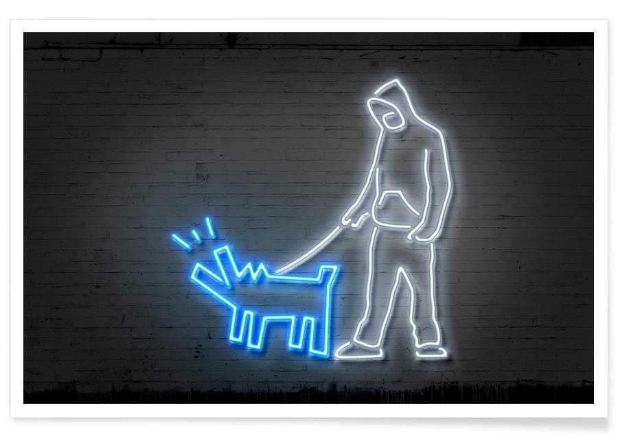 Haring Dog Poster
