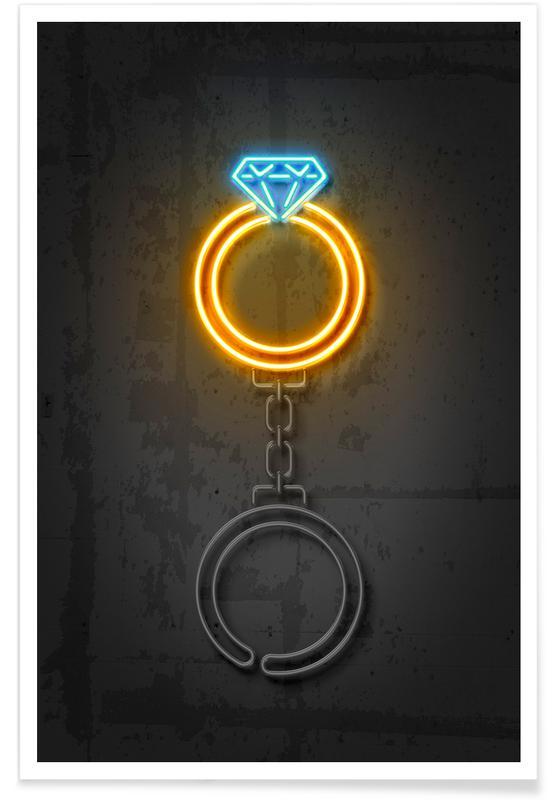 Diamond Ring Premium Poster