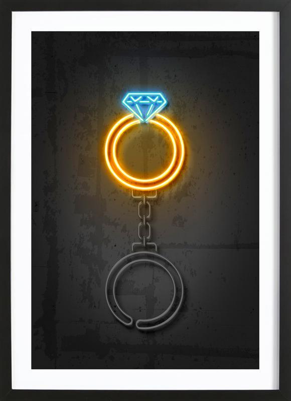 Diamond Ring Premium Poster gerahmt