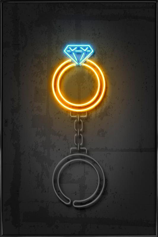 Diamond Ring Gerahmtes Poster
