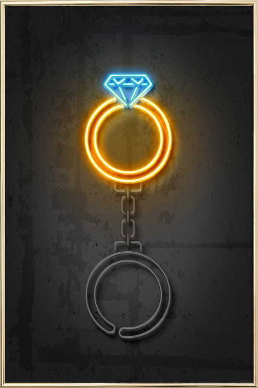 Diamond Ring Poster in Aluminium Frame