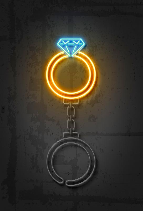 Diamond Ring Acrylglasbild