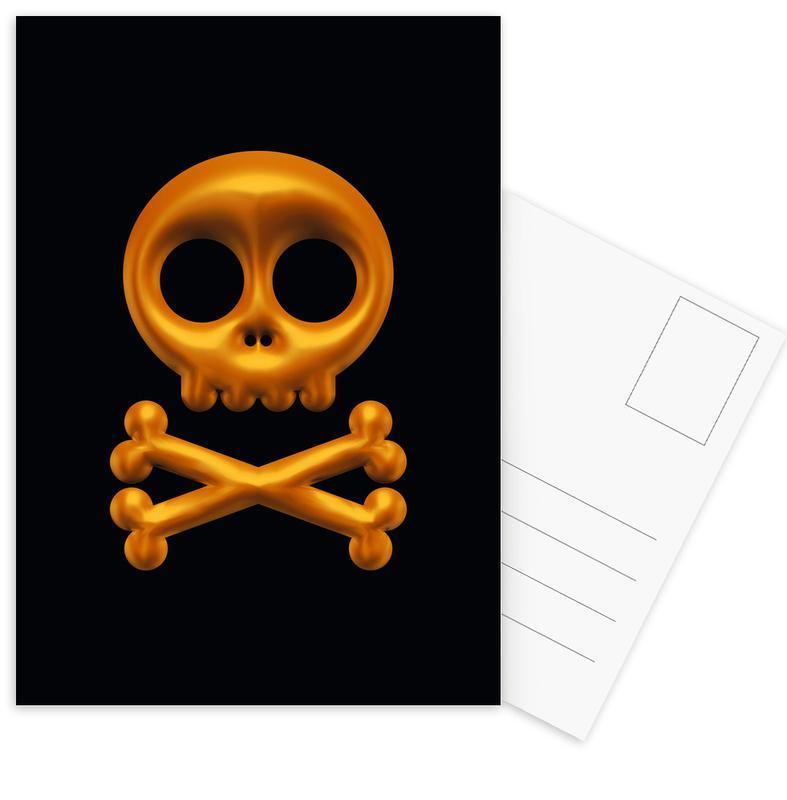 Skull Postcard Set
