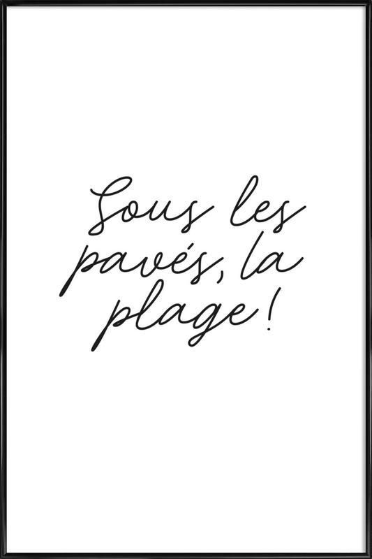 La Plage ingelijste poster