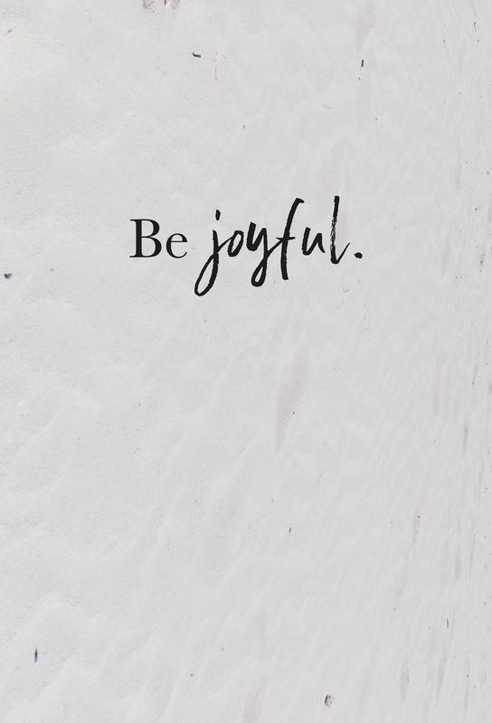 Be Joyful Aluminium Print