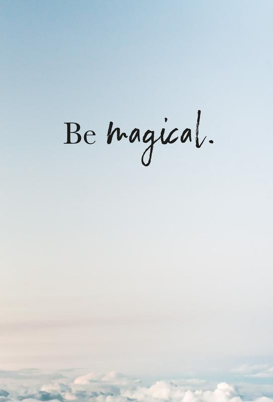 Be Magical acrylglas print
